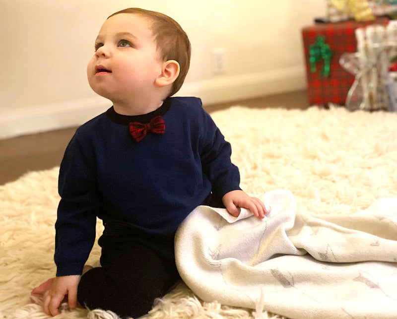 Cotton Bow Tie Onesie