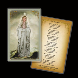 Our Lady, Star of the Sea Holy Card