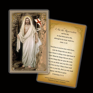 The Resurrection Holy Card
