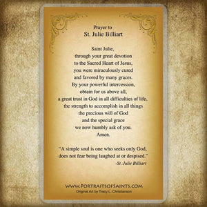 St. Julie Billiart Holy Card