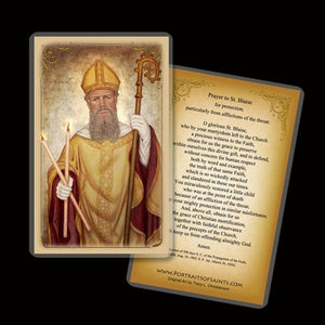 St. Blaise (Blase) Holy Card