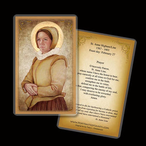 St. Anne Line Holy Card