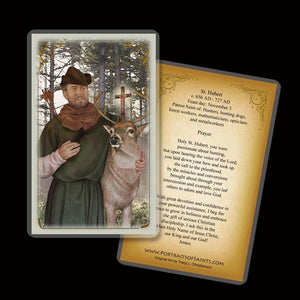 St. Hubert Holy Card