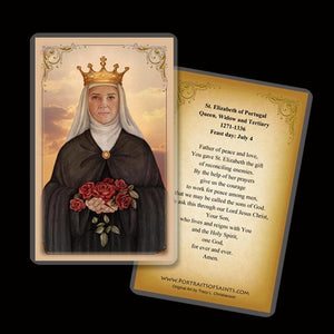 St. Elizabeth of Portugal Holy Card