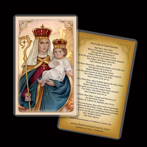 Our Lady of Good Success Holy Card