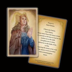 St. Emma of Gurk Holy Card