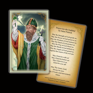 St. Patrick (C) Holy Card