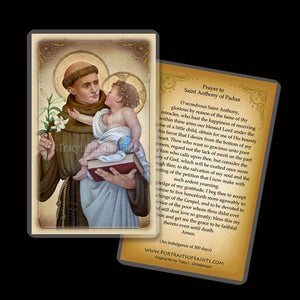 St. Anthony of Padua (B) Holy Card