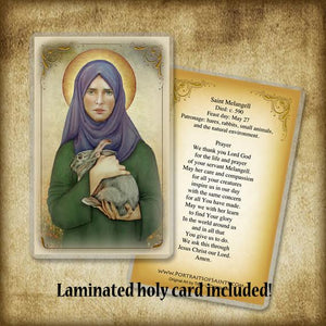 St. Melangell Plaque & Holy Card Gift Set