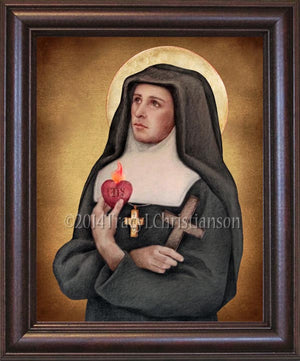St. Jane de Chantal Framed