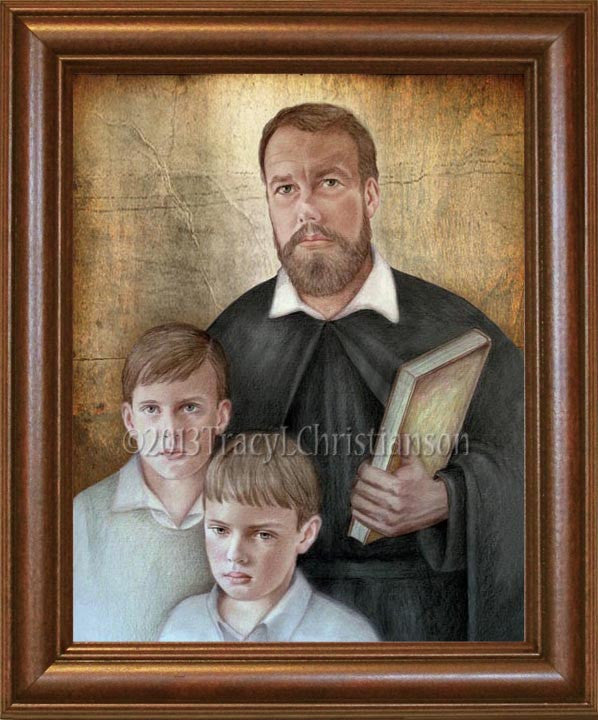 St. Jerome Emiliani Framed
