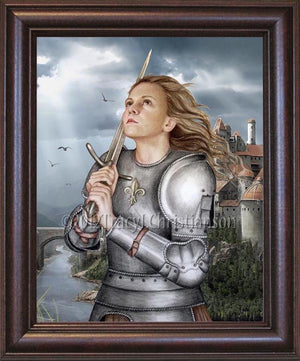 St. Joan of Arc Framed