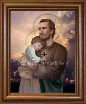 St. Joseph and Baby Jesus Framed
