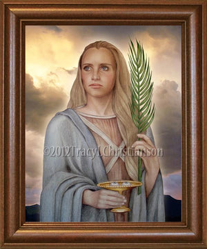 St. Lucy Framed