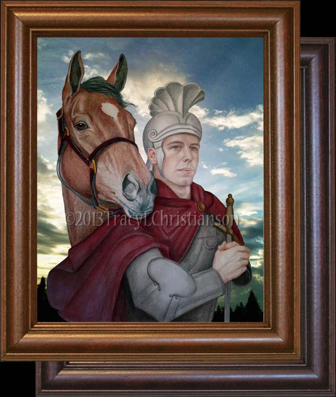 St. Martin of Tours Framed