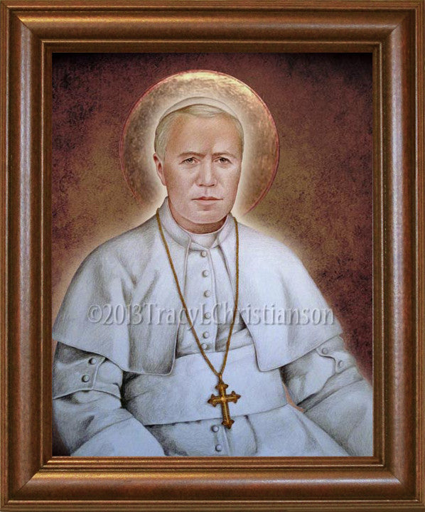 Pope St. Pius X Framed