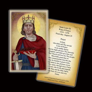 St. Louis IX, King of France Holy Card