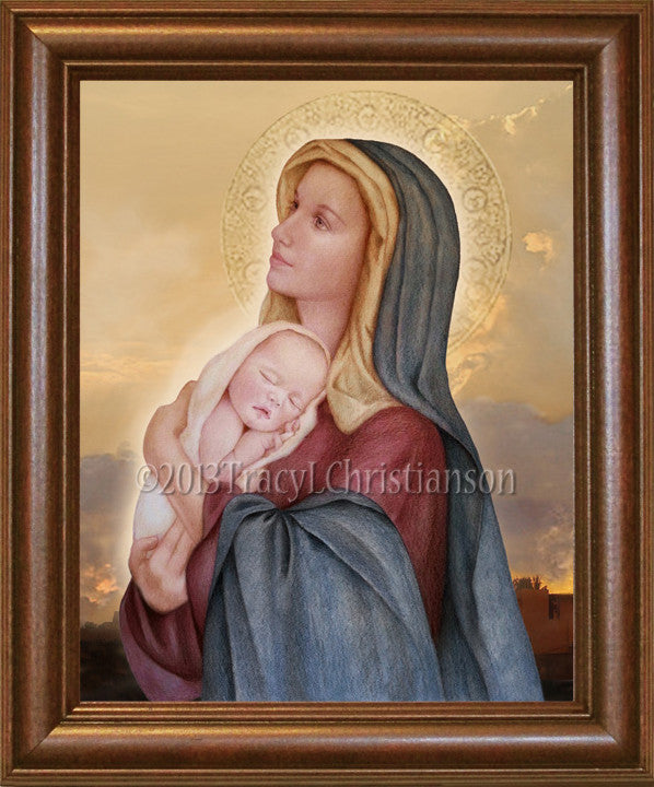 Madonna & Child (E) Framed