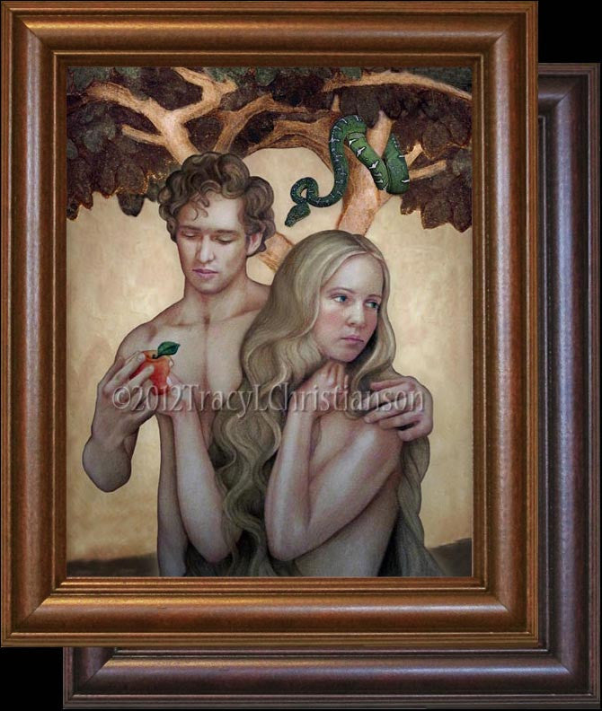 Sts. Adam and Eve Framed
