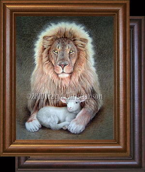Lion and Lamb Framed