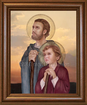 St. Joseph, Foster Father of Jesus Framed