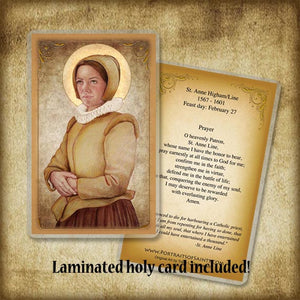 St. Anne Line Plaque & Holy Card Gift Set