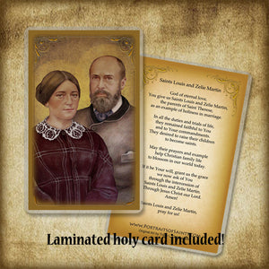 St. Louis & St. Zelie Martin Plaque & Holy Card Gift Set