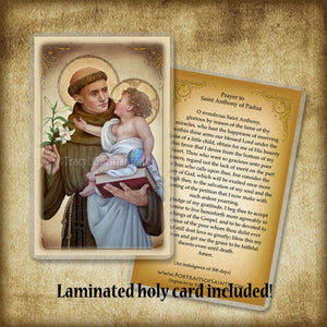 St. Anthony of Padua (B) Pendant & Holy Card Gift Set