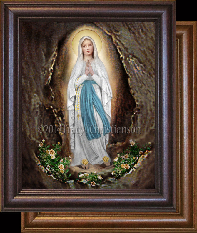 Our Lady of Lourdes Framed