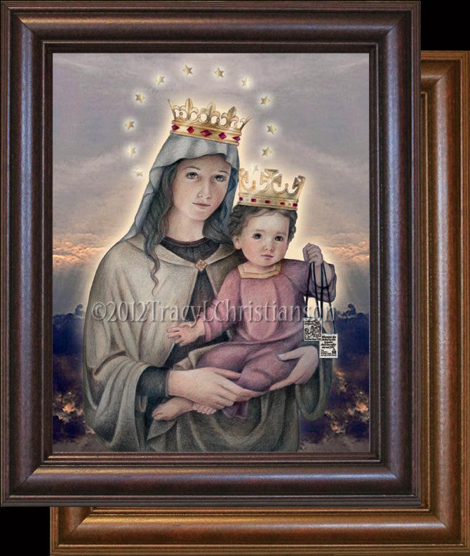 Our Lady of Mount Carmel Framed
