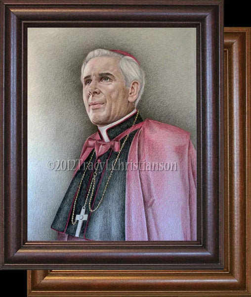 Bishop Fulton Sheen Framed Art