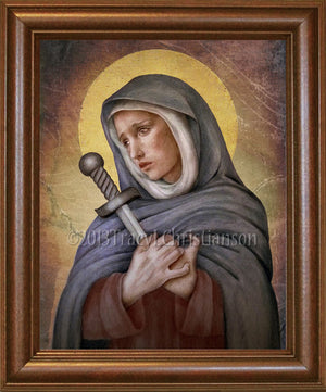Our Lady of Sorrows Framed