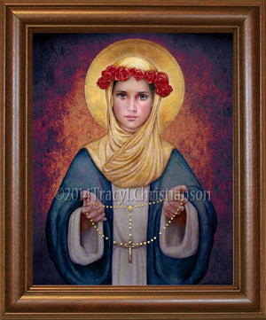 Our Lady of the Rosary Framed
