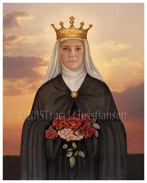 St. Elizabeth of Portugal Print