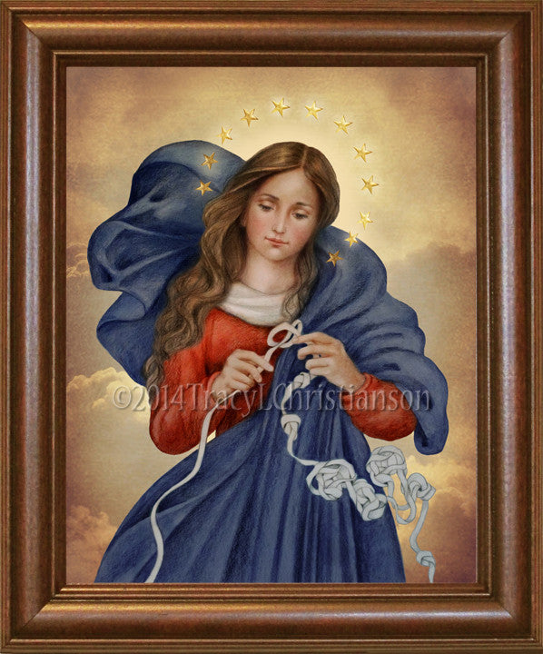 Our Lady Undoer of Knots Framed