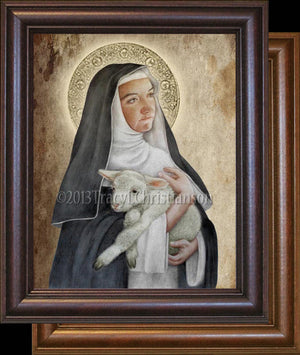 St. Agnes of Montepulciano Framed