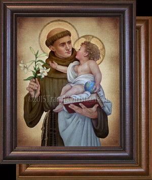 St. Anthony of Padua (B) Framed
