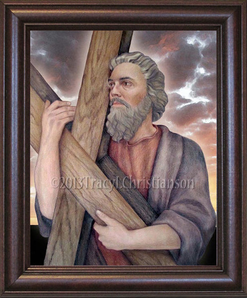 St Andrew The Apostle Framed Portraits Of Saints