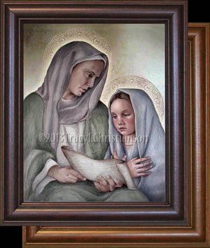 St. Anne and the Child Mary Framed