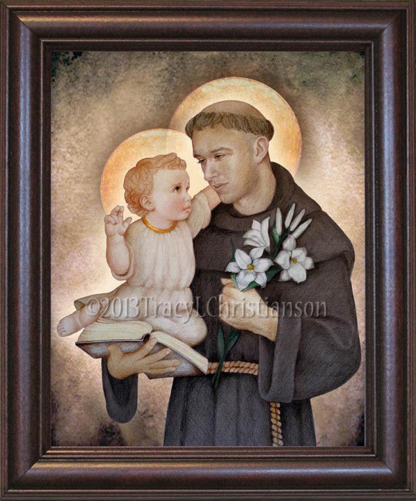 St. Anthony of Padua Framed