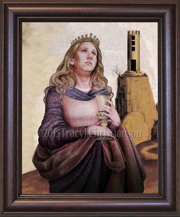 St. Barbara Framed