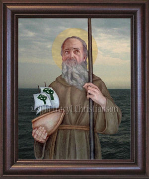 St. Brendan the Navigator Framed