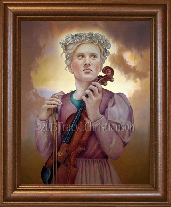 St. Cecilia Framed