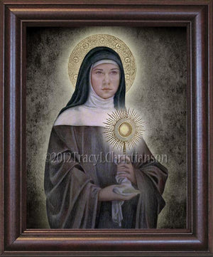 St. Clare of Assisi Framed