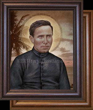 St. Damien of Molokai Framed
