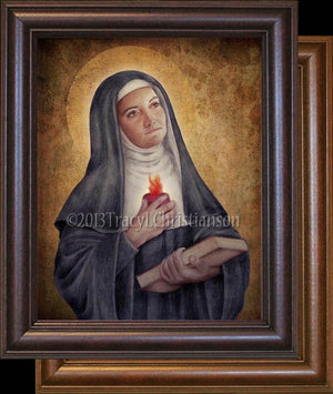 St. Gertrude the Great Framed
