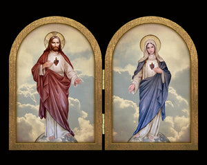 Sacred Hearts full-length Diptych