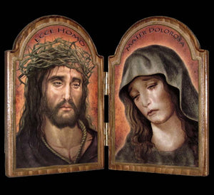Ecce Homo / Sorrowful Mother Diptych