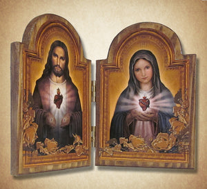 Sacred Hearts Diptych