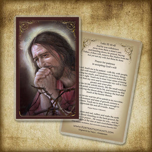 Agony of Jesus Holy Card